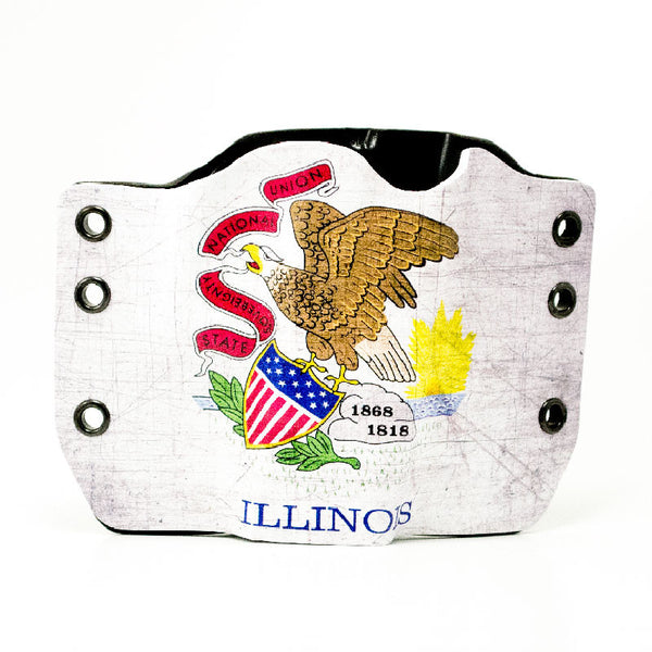 Image of Illinois Flag on Kydex Gun Holster