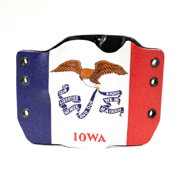 Image of Iowa Flag on Kydex Gun Holster