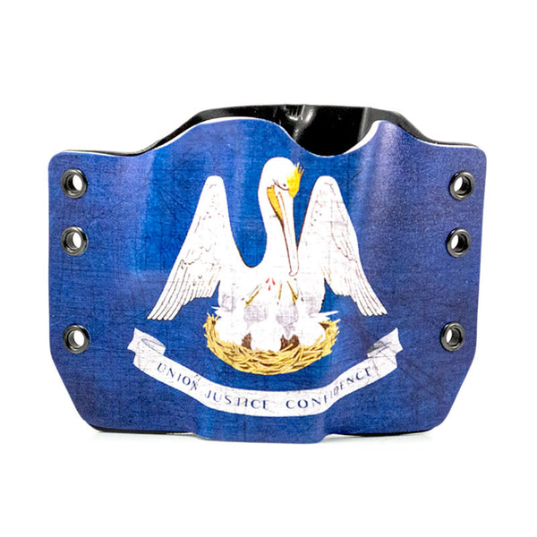 Image of Louisiana Flag on Kydex Gun Holster