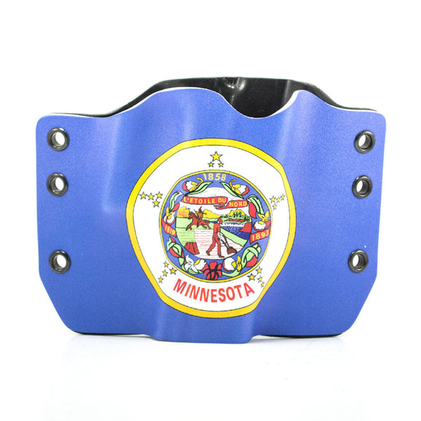Image of Minnesota Flag on Kydex Gun Holster