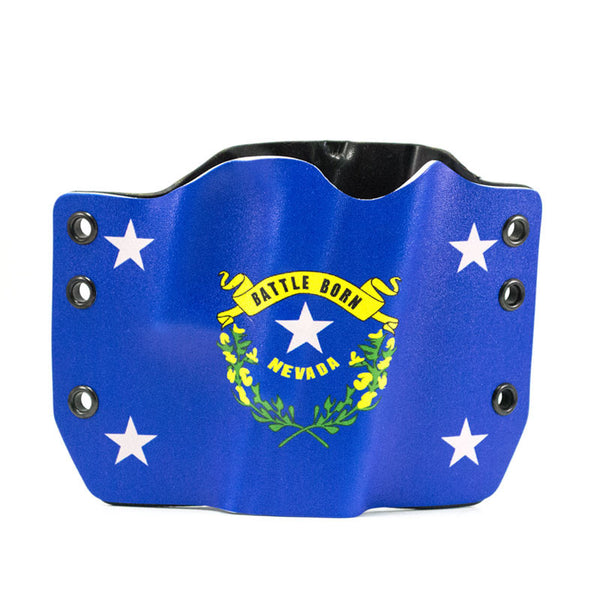 Image of Nevada Flag on Kydex Gun Holster