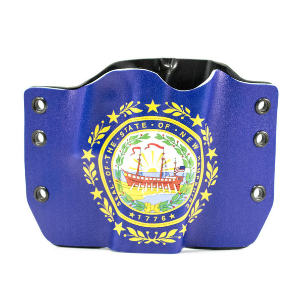 Image of New Hampshire Flag on Kydex Gun Holster