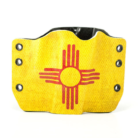 Image of New Mexico Flag on Kydex Gun Holster