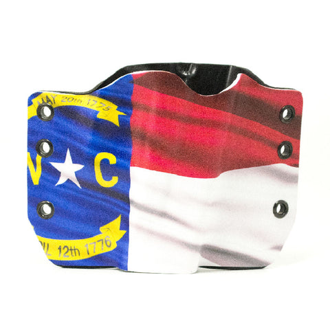 Image of North Carolina Flag on Kydex Holster