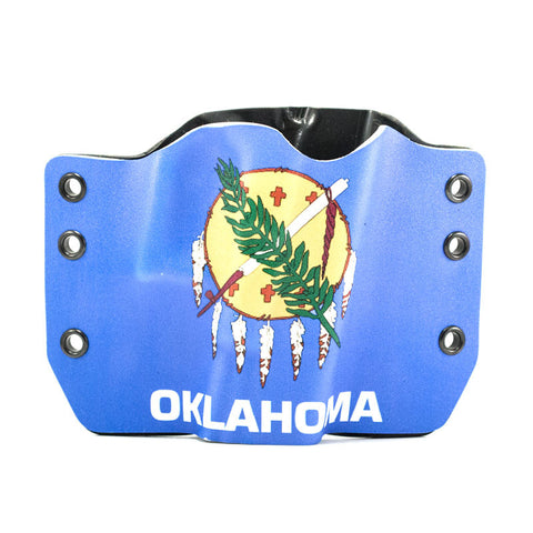Image of Oklahoma Flag on Kydex Gun Holster