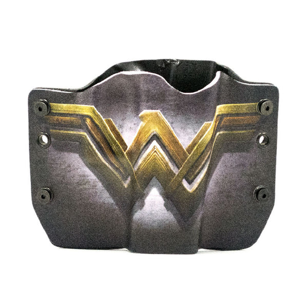 Image of Wonder Woman Logo on Kydex Gun Holster