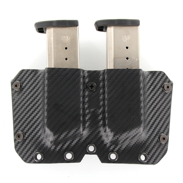 OWB - Double Mag Holster - Black Carbon Fiber
