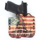 Don't Tread Snake Flag TACTICAL HOLSTER WITH GLOCK 19 TLR1
