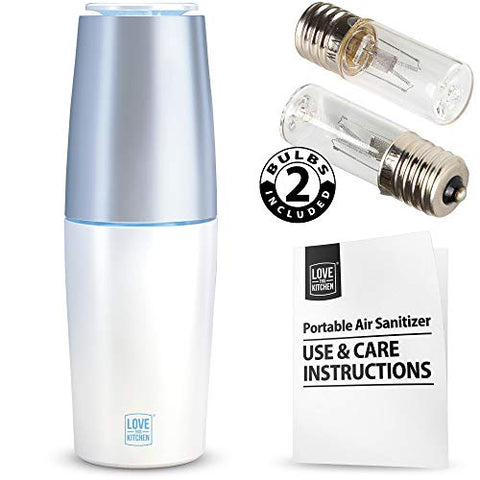 Powerful Portable Air Purifier with UV-C Light Safely Kills Viruses, Germs and Bacteria - Air Sanitizer and Odor Deodorizer