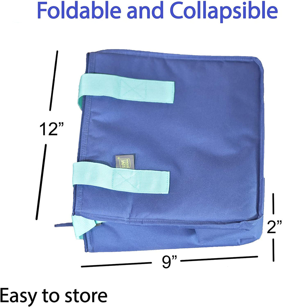 Ultimate Insulated Shopping Bags for Groceries w/Zippered Top & Dual Handles: This Insulated Grocery Bag/Cooler Bag is Foldable, Washable & Heavy Duty. Use it as a Cooler Box for Picnics or the Beach