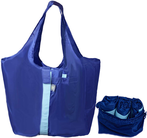 The Ultimate Reusable Grocery/Shopping Tote Bag. Eco-Friendly, Washable & Foldable with Heavy Duty Fabric & Very Comfortable Handles (Set of 3)
