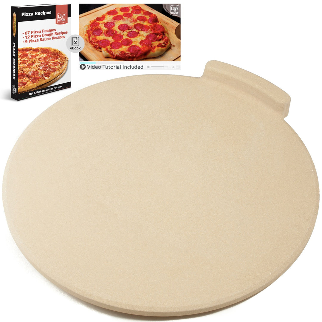 "The Ultimate Pizza Stone™ - 16"" Round. Great for Baking Pizza, Cookies & Bread in Any Oven/Grill"
