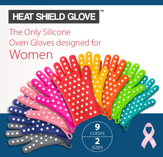 Women's Heat Shield Oven Mitts