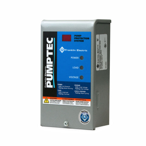 Franklin Electric Pumptec  1/3 HP to 1.5 HP  230v, Control Box.