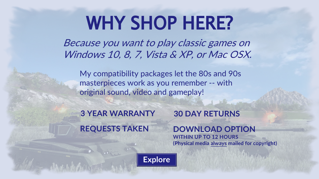 Browse 80s and 90s games for Windows 10, 8, 7, Vista, XP and OSX