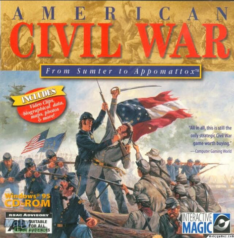 AMERICAN CIVIL WAR: FROM SUMTER TO APPOMATTOX +1Clk Windows 10 8 7 Vista XP Install