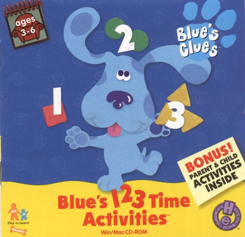 BLUE'S CLUES 123 TIME ACTIVITIES +1Clk Windows 10 8 7 Vista XP Install