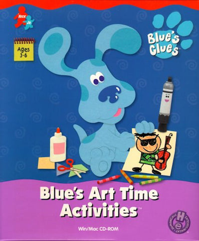 BLUE'S CLUES ART TIME ACTIVITIES +1Clk Windows 10 8 7 Vista XP Install