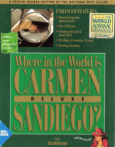 WHERE IN THE WORLD IS CARMEN SANDIEGO? 1992 +1Clk Macintosh OSX Install