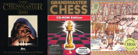 SARGON IV / CHESSMASTER 3000 / GRANDMASTER CHESS +1Clk Windows 10 8 7 Vista XP Install