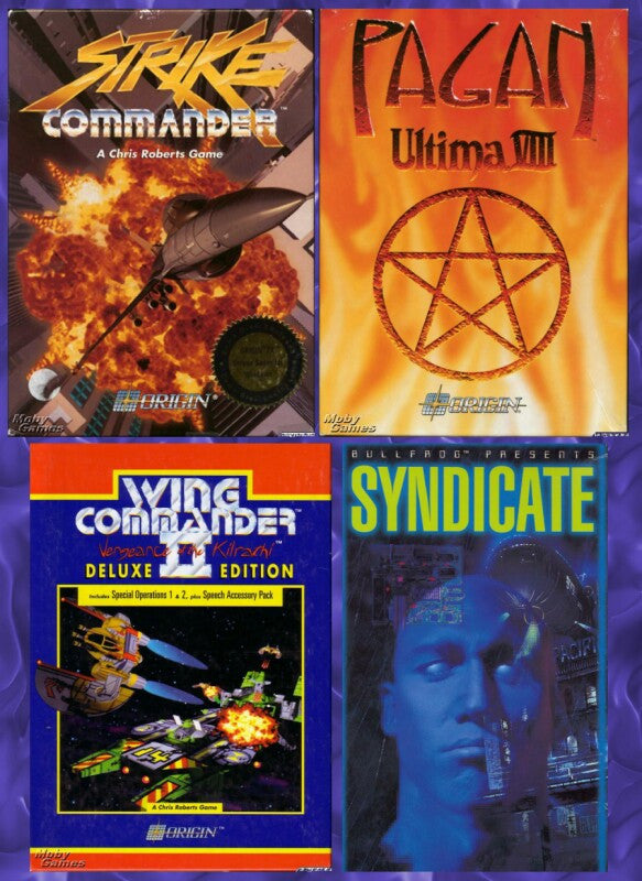 STRIKE COMMANDER, WING COMMANDER II, SYNDICATE +1Clk Windows 10 8 7 Vista XP Install