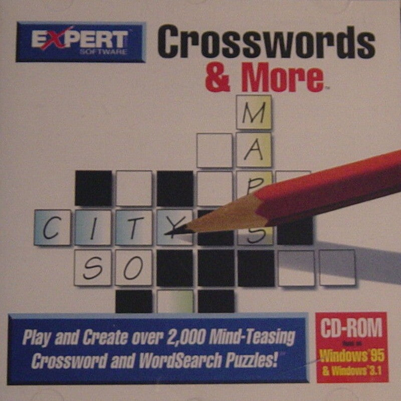 CROSSWORDS & MORE 1997 EXPERT SOFTWARE +1Clk Windows 10 8 7 Vista XP Install