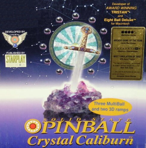 CRYSTAL CALIBURN PINBALL 1 +1Clk Windows 10 8 7 Vista XP Install