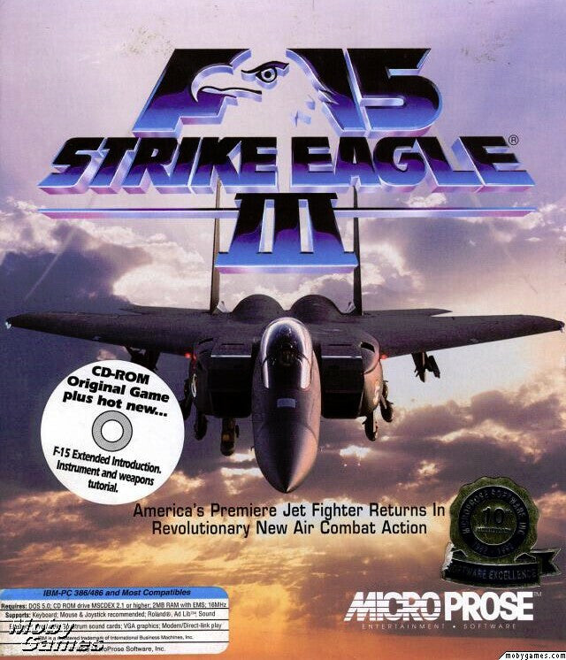 F-15 STRIKE EAGLE III +1Clk Windows 10 8 7 Vista XP Install