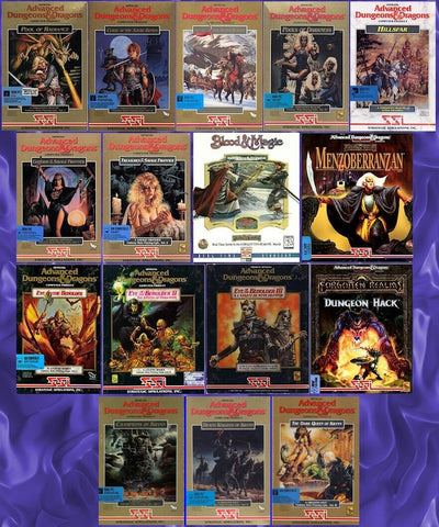 AD&D FORGOTTEN REALMS CLASSICS & KRYNN TRILOGY 16 GAMES +1Clk Windows 10 8 7 Vista XP Install