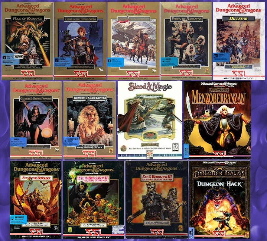 AD&D POOL OF RADIANCE, SECRET OF THE SILVER BLADES +11 MORE FOR Windows 10 8 7 Vista XP