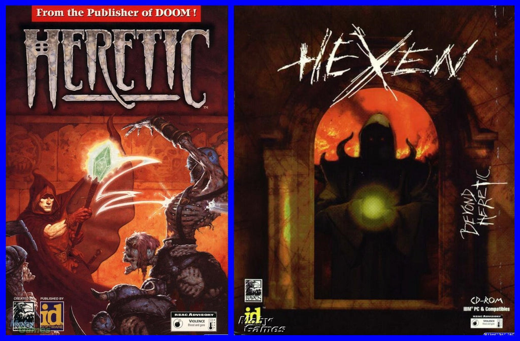 HERETIC & HEXEN w/ DEATHKINGS EXPANSION +1Clk Macintosh OSX Install