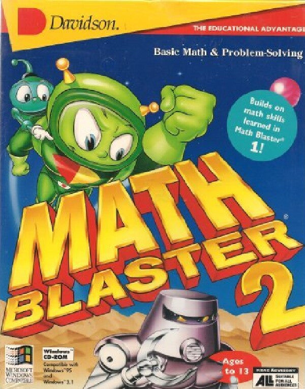 MATH BLASTER 2 SECRET OF THE LOST CITY +1Clk Windows 10 8 7 Vista XP Install