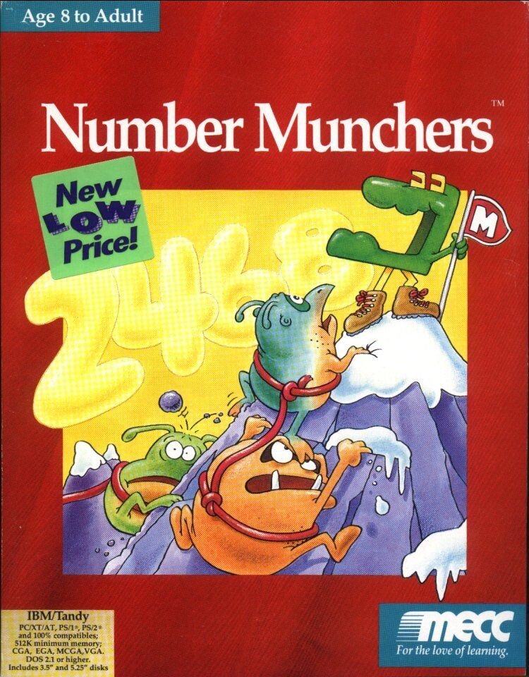 NUMBER MUNCHERS 1991 +1Clk Windows 10 8 7 Vista XP Install