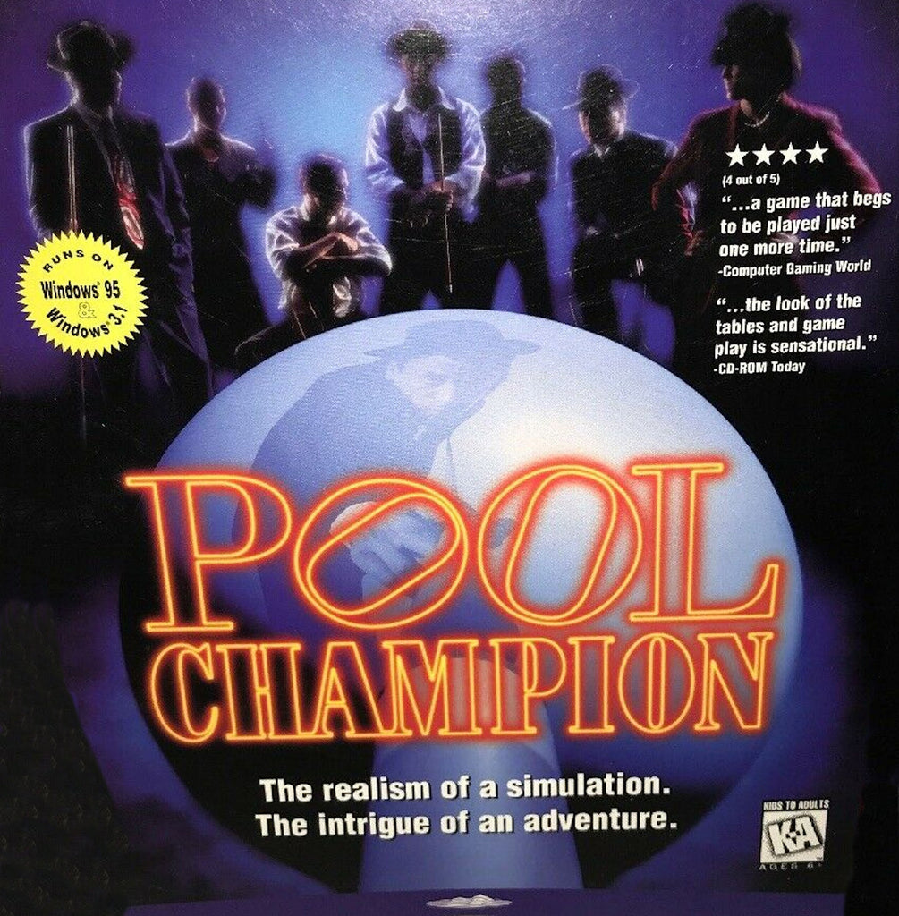 POOL CHAMPION 1995 MINDSCAPE +1Clk Windows 10 8 7 Vista XP Install
