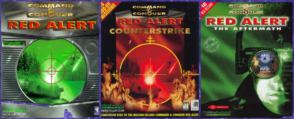 COMMAND & CONQUER RED ALERT & COUNTERSTRIKE & AFTERMATH  +1Clk Windows 10 8 7 Vista XP Install