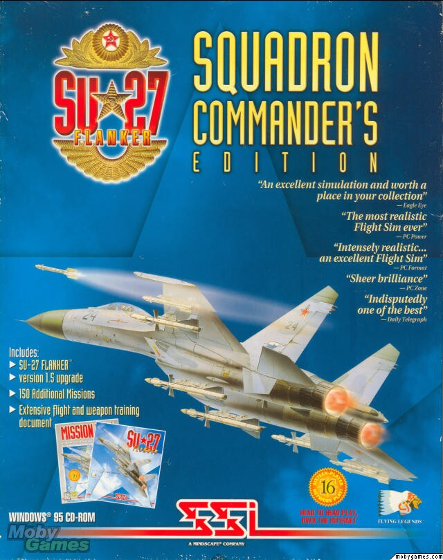 SU-27 FLANKER COMMANDER'S EDITION PC GAME +1Clk Windows 10 8 7 Vista XP Install