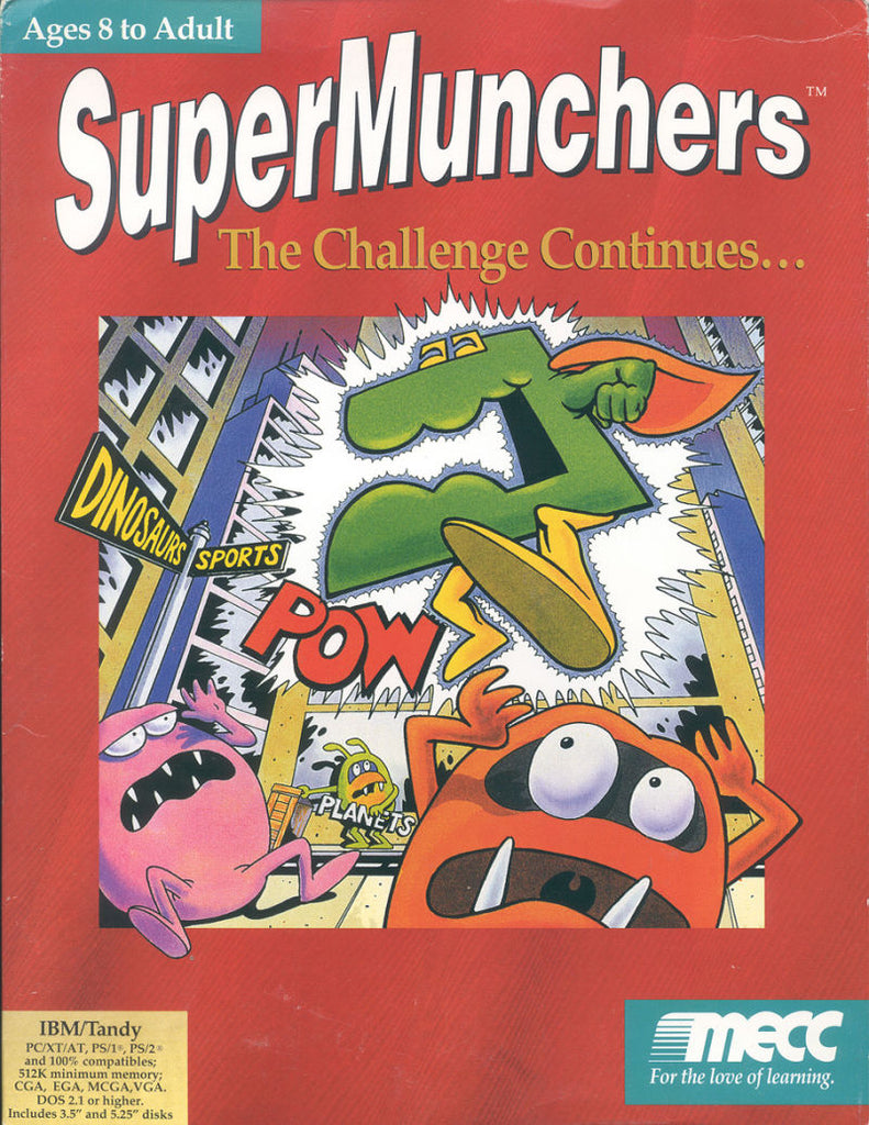 SUPER MUNCHERS PC GAME MECC 1991 +1Clk Windows 10 8 7 Vista XP Install
