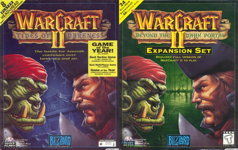 WARCRAFT II TIDES OF DARKNESS + DARK PORTAL & MAP EDITOR +1Clk Windows 10 8 7 Vista XP Install