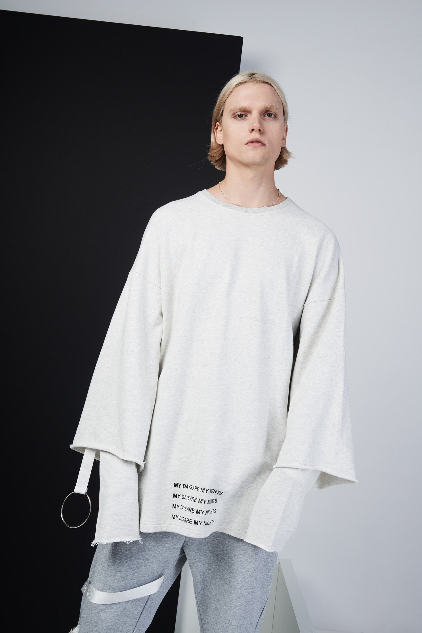 Double Sleeve Raw Cut Oversized Crewneck - CGNY