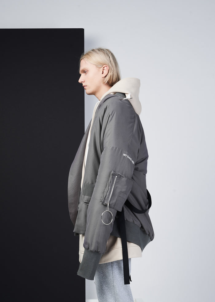 Long Sleeve Oversized Bomber Ma-1 Jacket - CGNY