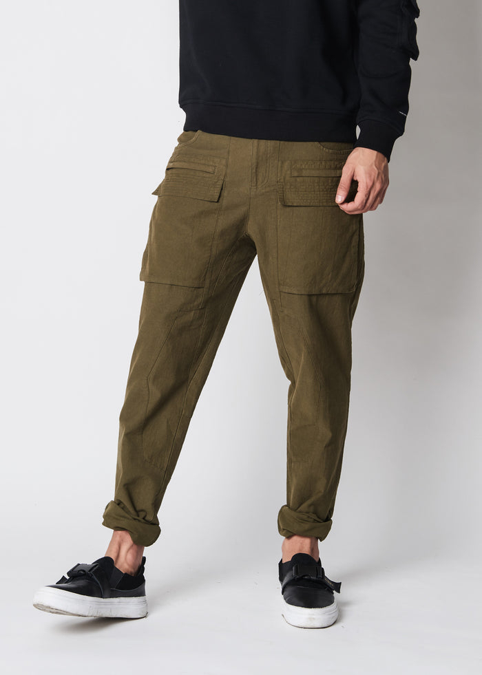 Stone Heavy Washed Cargo Pants - CGNY