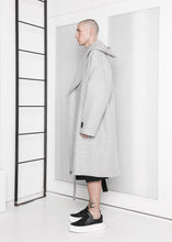 Load image into Gallery viewer, Oversized Long Hooded Coat in Dove Grey - CGNY