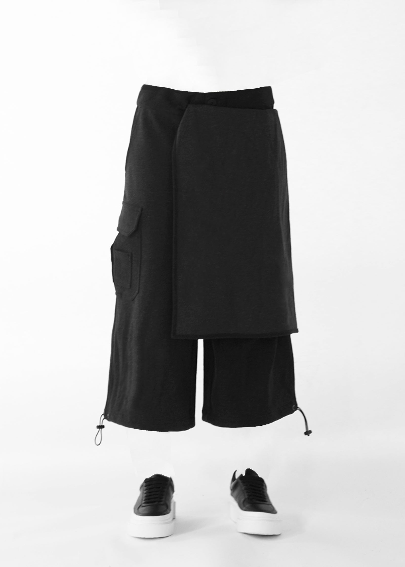 CGNY 2019 S/S Asymmetrical Layered Shorts - CGNY