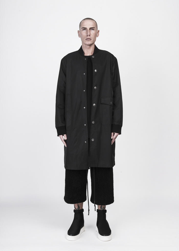 Woven Split Long Jacket - CGNY