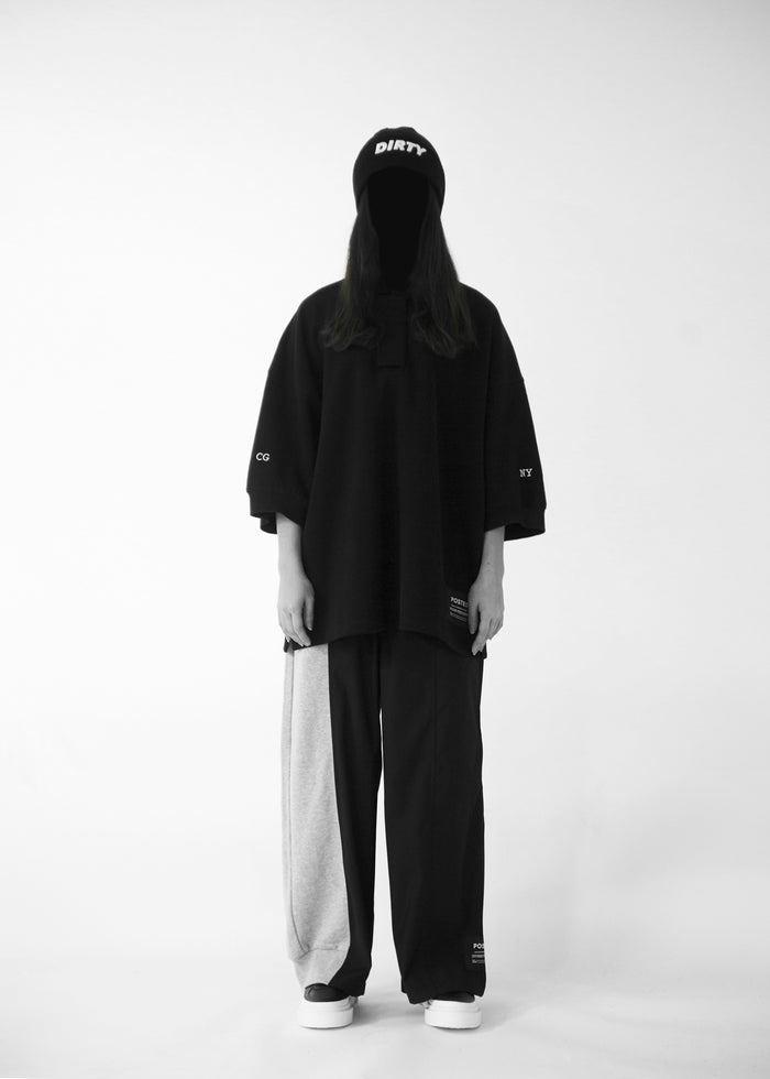 CGNY 2019 S/S Oversized Embroidery Black Polo - CGNY