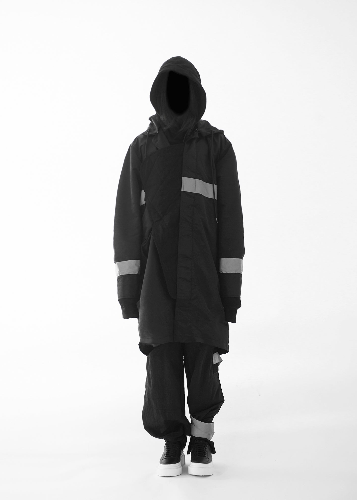 CGNY 2019 S/S Asymmetrical Reflective Hooded Jacket - CGNY