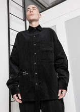 Load image into Gallery viewer, Oversized Corduroy Long Shirt in Black - CGNY