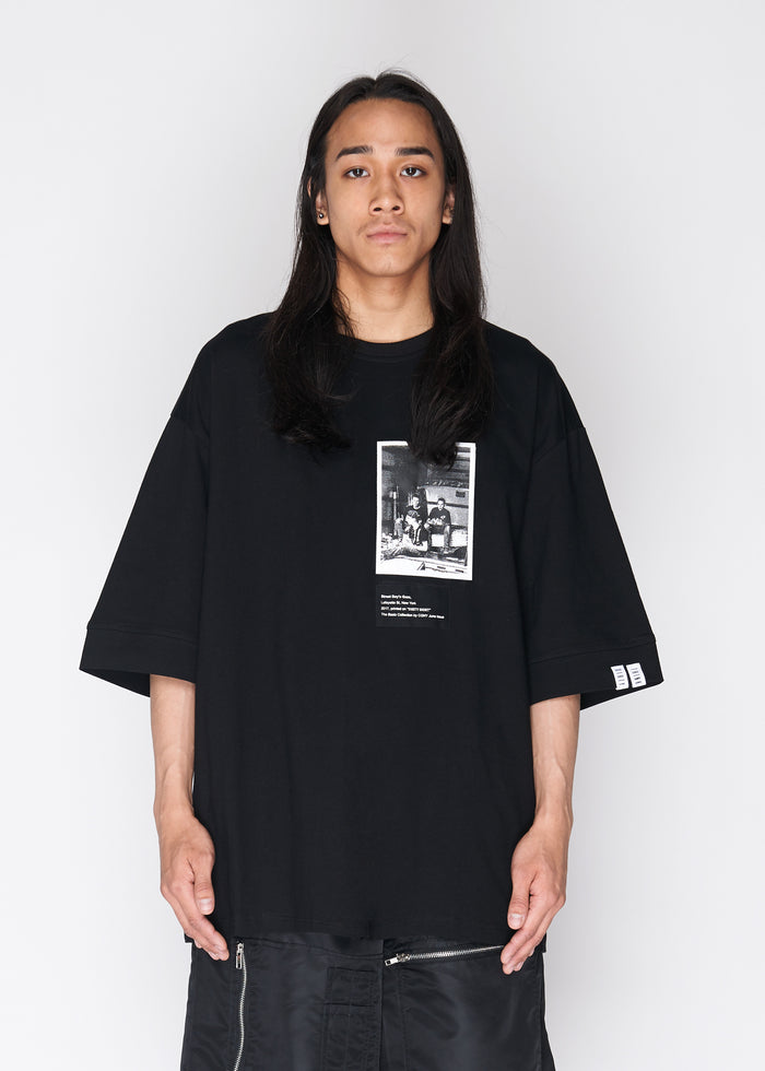 Oversized Photo Tee in Black