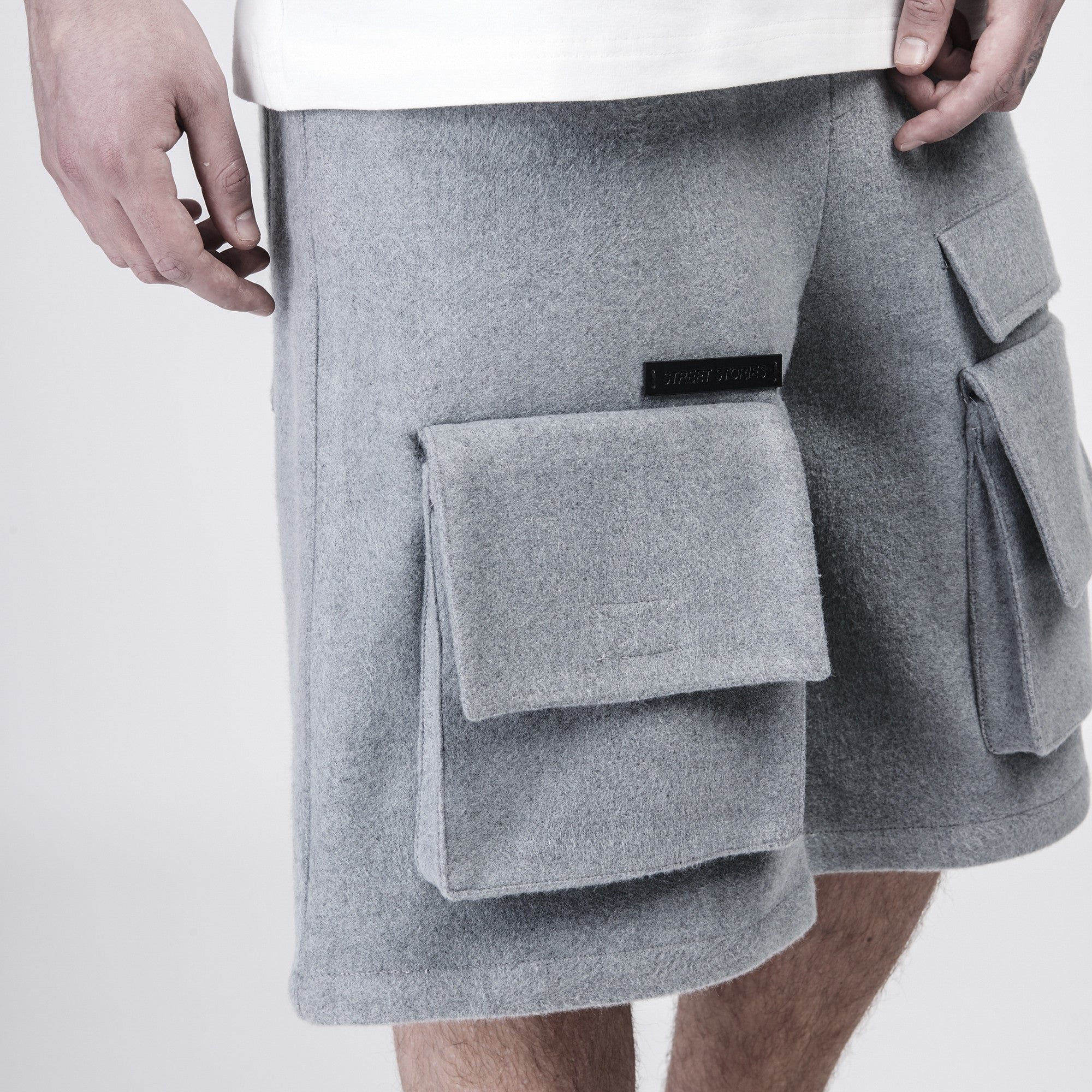 Faux Wool-Blended Shorts - CGNY