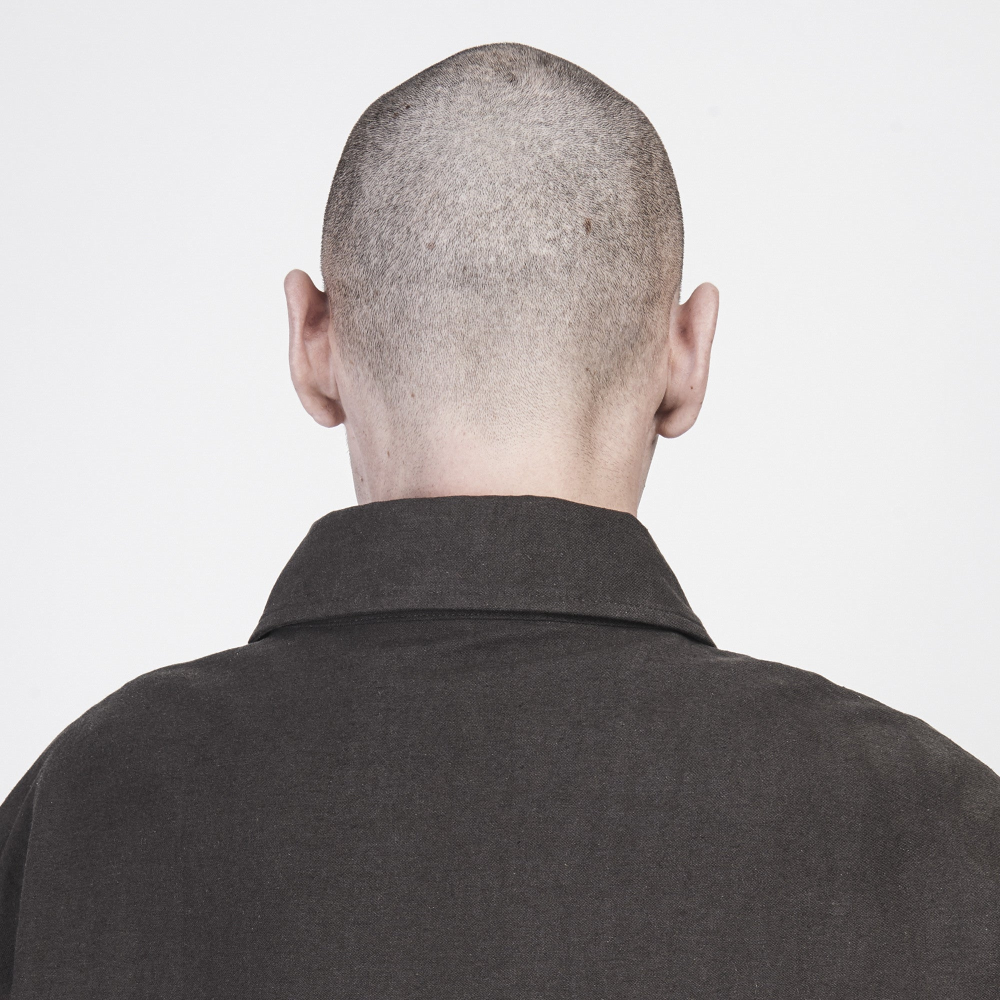 Longline Twill Jacket with Multi-Pockets in Dark Oolong - CGNY